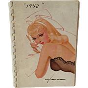 Vintage 1941 Calendar Telephone Address Book with Petty Pin-Up Girls