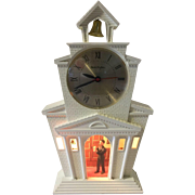 Vintage Mastercrafters Motion Clock Church with Bell Ringer