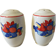 Vintage Calico Fruit Salt and Pepper Shakers