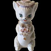 Vintage Irice Cat Perfume Lamp Spaghetti Trim