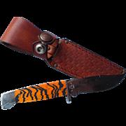 Case 3 X hunting knife & leather sheath