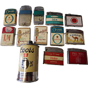 13 Vintage cigarette lighters WinstonCoors L&M Oasis camel chesterfield Scripto and more