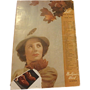 Vintage Montgomery Ward Catalog Fall and Winter 1938-1939