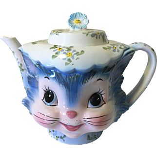 Vintage Lefton Miss Priss Kitten Cat Teapot