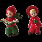 Vintage Josef Originals Christmas Caroling Figurines