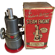 Vintage Metal Robert Fulton Steam Engine metal toy in box