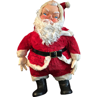 Vintage 1950's My Toy Stuffed Santa Claus Doll