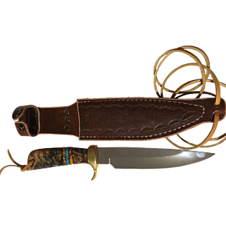 WaiteWild Boar hunting fighting knife  in sheath Better look