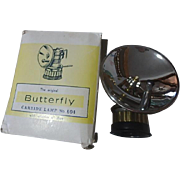 Vintage Butterfly carbide lamp in box new old stock no 604 miners lamp