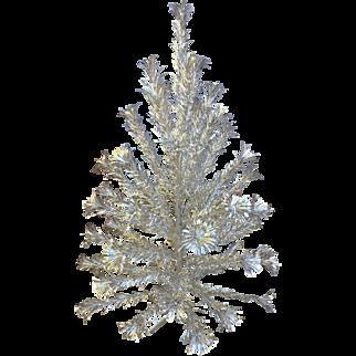 Vintage 4 ft. Aluminum Sparkler Pom Pom Christmas Tree & Original Box