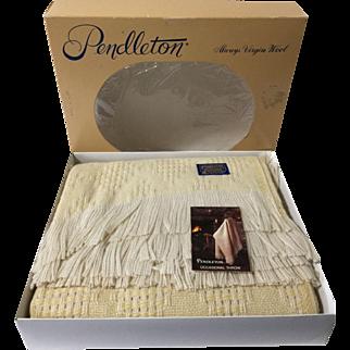 """Vintage Pendleton Wool Blanket/Throw New in Box 68x52"""""""