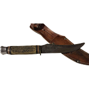 Neat stag handle hunting knife America Knife Co. Sabre Solingen hunting knife