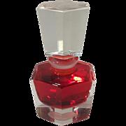 Vintage COORS Crystal Perfume Bottle