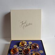Vintage AVON Jewel Collection Mini Perfume Oil Bottles