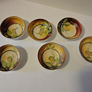 Vintage Nippon Hand painted Individual Open Salt Cellars Set of 6