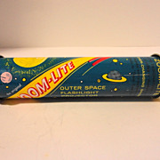 Vintage Tin Litho Toy Flashlight Projector Zoom to the Moon