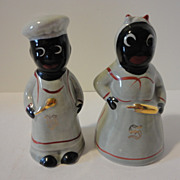 Vintage Black Americana  Salt & Pepper Shakers