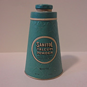 Vintage Sanitol Talcum Powder Tin