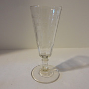 Antique Embossed Advertising Ginger Ale Glass