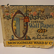Montgomery Wards 1925 Wallpaper Sample Book - Red Tag Sale Item