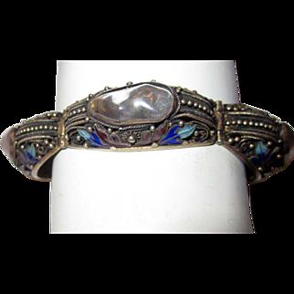 Chinese Tourmaline Bracelet with Enamel Work