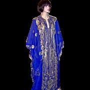 Arabic Electric Blue Wedding Caftan