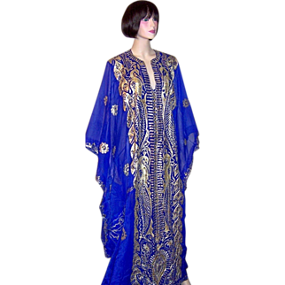 Arabic Electric Blue Wedding Caftan
