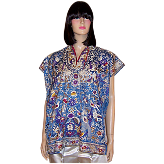 Early 20th Century, Hand-Embroidered  IndianTunic