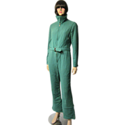 "Ski Suit by ""Bogner""-Viridian Green Ski Suit-Two Piece/Jumpsuit"