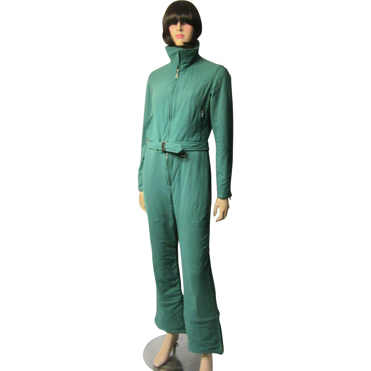Ski Suit X22Bognerx22 Viridian Green Ski on two lane lighting