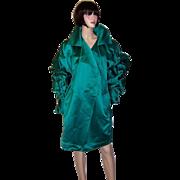 Claude Montana-Viridian Green Silk Coat
