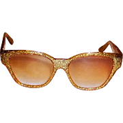 Fabulous 1950's Gold Confetti Sunglasses Made in France