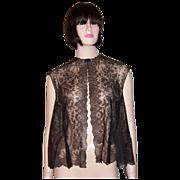 Black Chantilly Lace Sleeveless Bolero/Tunic