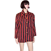 "Red, Black, and Yellow Striped ""Moschino Couture"" Jacket"