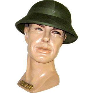 Men's Vintage Hunter Green Canvas Pith Helmet