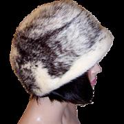 """""""Mr. John Fabulous Furs New York-Paris"""" Stylish Black and White Mink Hat"""