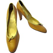 Rosy Brown Taupe and Silver Pumps (Made in Italy) Size 40