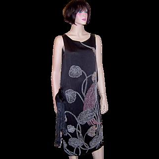 """1920's Art Deco Beaded Dress of """"Wearable Art"""""""