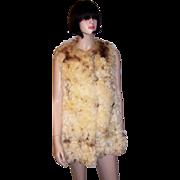 1960's Vintage, Curly Mongolian Lamb Vest