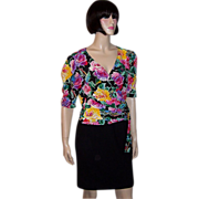 Emanuel Ungaro Parallele-Multi-Colored Floral Printed Blouse