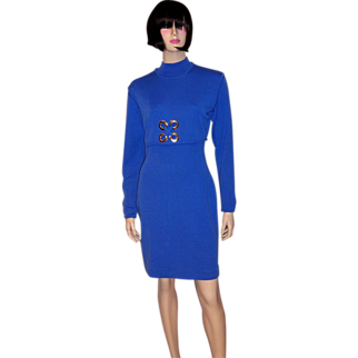 Andrea Jovine Chic & Timeless Electric Blue Dress