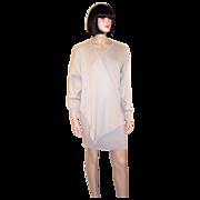 "Angelo Tarlazzi-Paris-Chic Pull-On, ""Kerchief"" Dress with Drape"