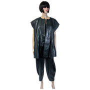 Dianne B for Cygne Design-Deep Forest Green Leather Outfit