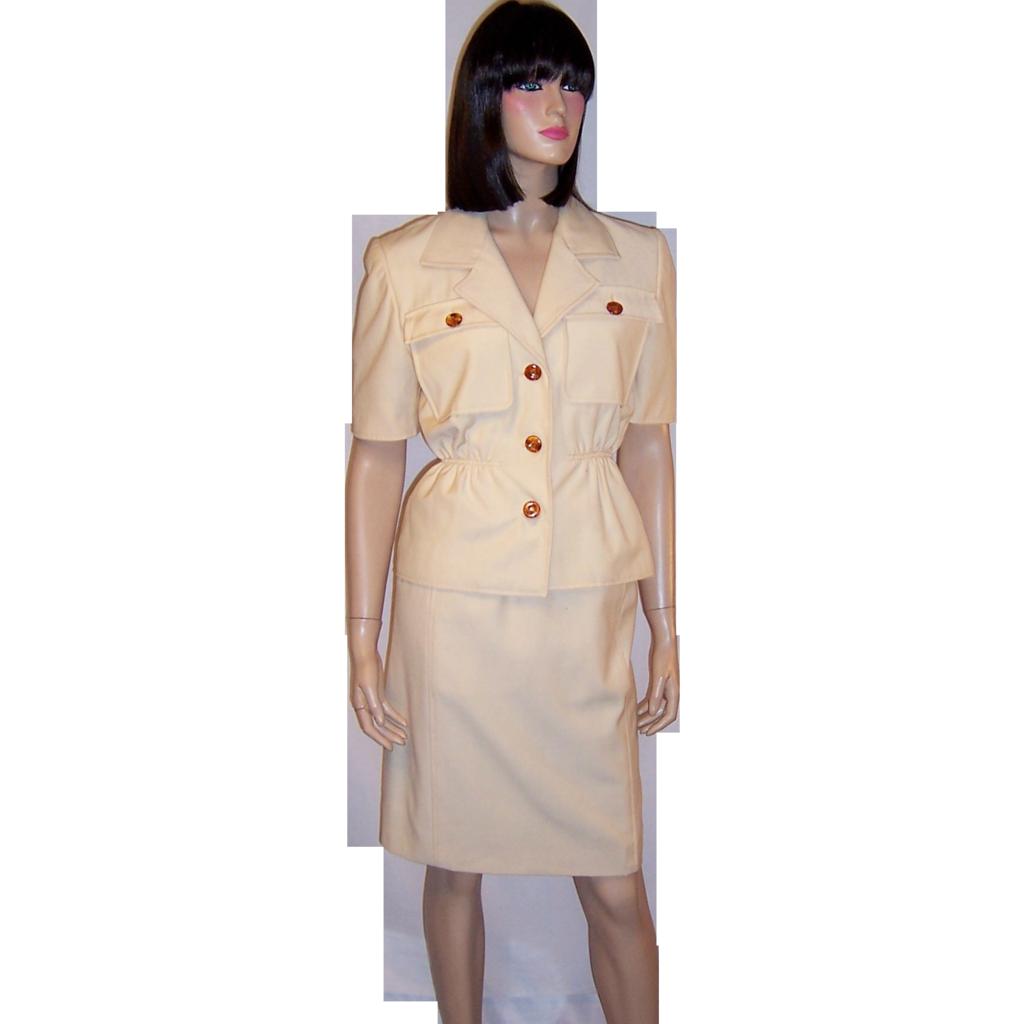 Oscar De La Renta Summertime Ivory Safari Suit From
