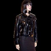 Diesel for Females (Italy) Black Vinyl-Like Jacket