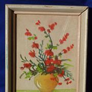 Mabel C. Heyde ( Mimi Joy) still life floral pastel drawing painting