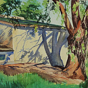Southwestern American art watercolor painting by New Mexico artist Ted Schuyler (1904 -1990)