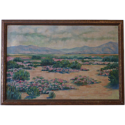 California plein air art desert landscape painting
