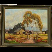 Horace Edmund Huey (1895 - 1963) California landscape painting