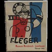 Fernand Leger (1881- 1955) Museum Morsbroich original lithograph poster 1955